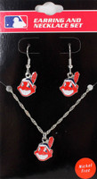 Cleveland Indians Earrings & Necklace Combo