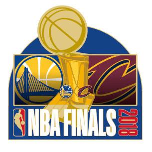 2018 NBA Finals Dueling Pin - Warriors vs. Cavaliers