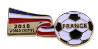 France 2018 World Cup Champions Ribbon Pin