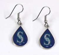 Seattle Mariners Tear Drop Earrings
