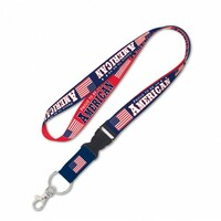 Proud To Be An American Detachable Patriotic Lanyard