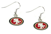 San Francisco 49ers Logo Earrings - Silver