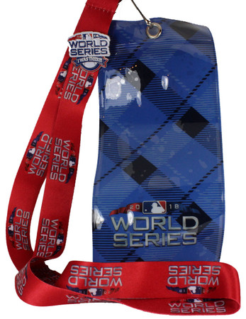 "2018 World Series Lanyard Ticket Holders & ""I Was There"" Pin"