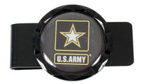 Army Diamond Cut Money Clip