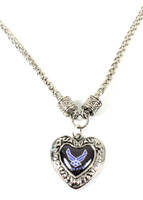 Air Force Charmed Heart Necklace