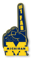 Michigan #1Fan Pin