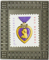Purple Heart Stamp Pin