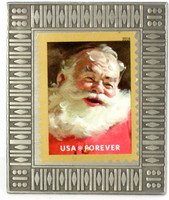 Santa Claus Christmas Forever Stamp Pin #2