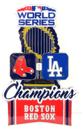 """Boston Red Sox 2018 World Series Champs Oversized Pin - 3"""""""