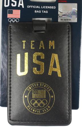 Team USA Leatherette Luggage Tag