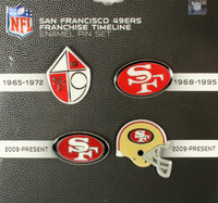 San Francisco 49ers Evolution Pin Set