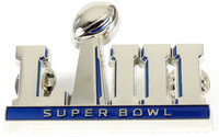 Super Bowl LIII (53) Oversized 3-D Logo Pin - 2""