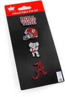 Alabama Logo Collector Pin Set