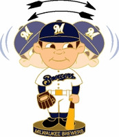 Milwaukee Brewers Bobble Head Pin
