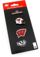 Wisconsin Badgers Four Pin Collector Set