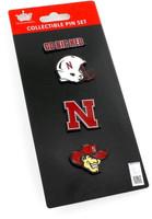 Nebraska Cornhuskers Four Pin Collector Set
