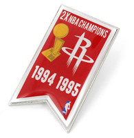 Houston Rockets 2-Time NBA Champions Pin