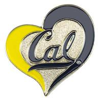 Cal Berkeley Bears Swirl Heart Pin