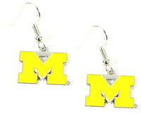 Michigan Logo Earrings - Yellow