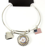 United State Navy Dimple Adjustable Bracelet