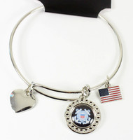 United State Coast Guard Dimple Adjustable Bracelet