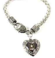Army Charmed Heart Bracelet