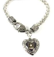 Army Charmed Heart Bracelet