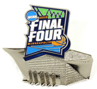 2019 Final Four US Bank Stadium Pin - Silver