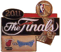 2011 NBA Finals Heat vs Mavericks Dueling Pin