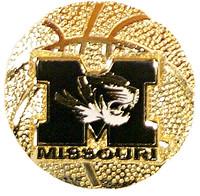 Missouri Basketball Pin