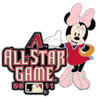 2011 MLB All-Star Game Minnie Mouse Disney Pin