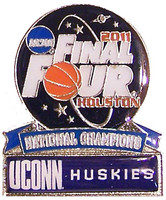 2011 UCONN Huskies National Champions Pin
