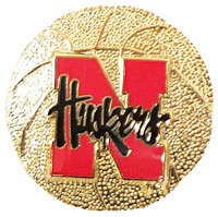 Nebraska Basketball Pin