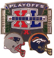 New England Patriots vs Denver Broncos 2006 NFL Playoff Pin