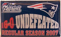 New England Patroits 2007 Undefeated Regular Season Pin