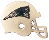 New England Patriots Two Tone Double Helmet Pin