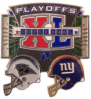 New York Giants vs. Carolina Panthers 2006 NFL Playoffs Pin