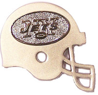New York Jets Two Tone Double Helmet Pin