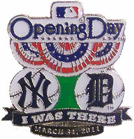 2011 Opening Day Pin - Yankees vs. Detroit Tigers