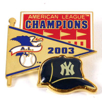 New York Yankeess 2003 American League Champs Pin - Pennant Design