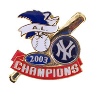 New York Yankeess 2003 American League Champs Pin - Icon Design