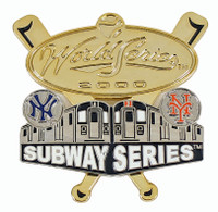 Yankees vs. Mets 2000 Subway Series Dueling Double Pin