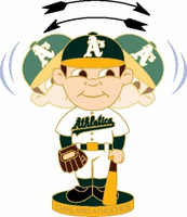 Oakland A's Bobble Head Pin