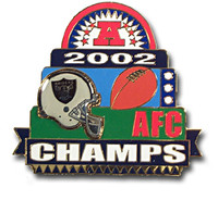 Oakland Raiders Oversized AFC Champs Pin