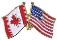 America / Canada Flag Pin