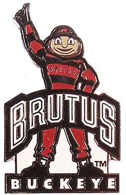 Ohio State Mascot Brutus Buckeye Pin