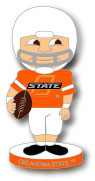Oklahoma State Football Bobbing Head Pin