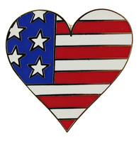 American Flag Heart Pin