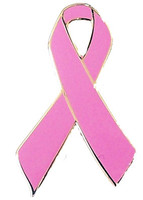 Pink Ribbon Awareness Pin - Breast Cancer Pin
