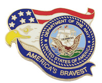 America's Bravest U.S. Navy Pin